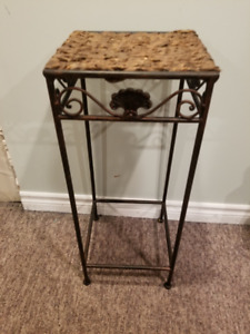 Pier Imports Wrought Iron & Wicker Table