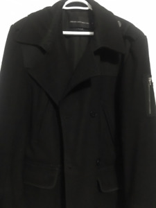Man's French Connection Pea Coat XL