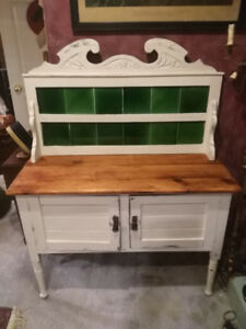 Antique shabby chic side board chalk paint