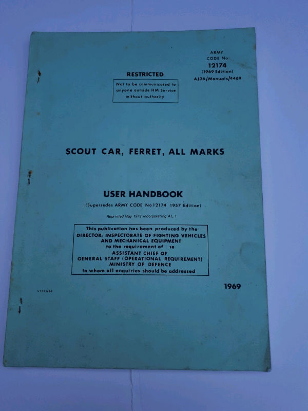 FERRET SCOUT CAR USER HANDBOOK | in Mablethorpe, Lincolnshire | Gumtree
