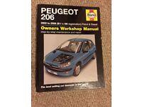 Hayes Manual Peugeot 206 2002-2006