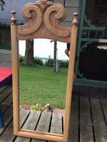 Miroir en chêne antique