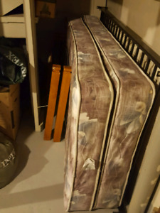 Good Used Twin Bed frame and Mattresses **GONE**