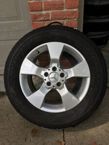4 Winter Tires with 17inch Mercedes Rims