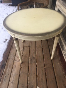 Vintage Yellow Table and Chairs
