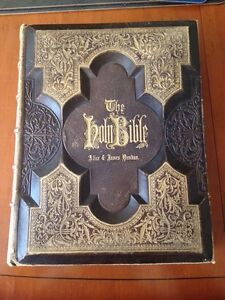 Antique Bible 1874 Large Illustrated (AJ Holman)