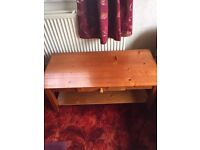 Solid coffee table - please read ad for location