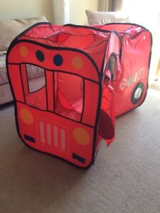 Play tunnel and Fold up Fire Truck