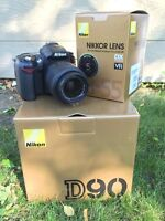 Nikon D90 DSL Kit (includes lens and EXTRAS)