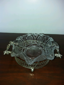 Glass bowl with stand.