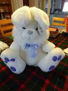 "Large White Bunny with Purple Ribbon - 18"" high Kitchener / Waterloo Kitchener Area image 1"