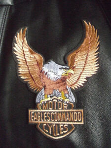 BIKER Patch EAGLE Commando Motor XL HARLEY HONDA SUZUKI YAMAHA K