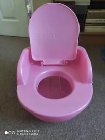 Baby girl's toilet