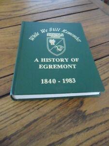 Vintage egremont twp history book