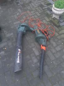 Black + Decker Corded Leaf Blower & Garden Vac