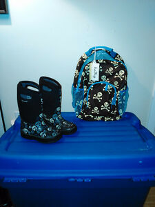 BOGS Winter Boots & Hatley Backpack London Ontario image 1