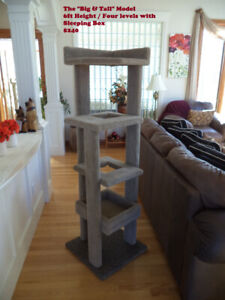 Indoor Scratching Post  & Tree House -  Made Very Durable !