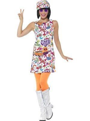 60er Jahre Twiggy Minikleid  Hippie  Groovy Chick - Twiggy Kostüm