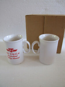 BRAND NEW SET OF 2 VINTAGE TTC 1985 INDUSTRIAL SAFETY COFFEE MUG London Ontario image 6