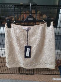 Ladies gold Skirt brand new m&s 10