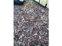 Garden bark chippings