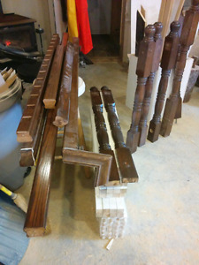 Stair post rails and spindals