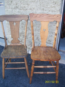 2 COUNTRY CHAIRS FOR SALE - $15.00 EACH