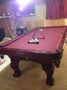 Kingston 3 piece slate pool table