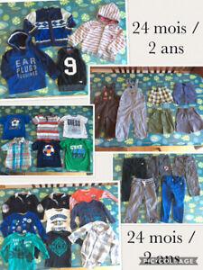 Lot vêtements garçon 24 mois / 2 ans MEXX