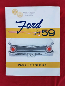 1959 FORD FAIRLANE SKYLINER Sales Brochure Press Kit w/ Photos