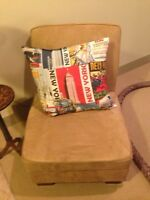 Occasional chair and cushion