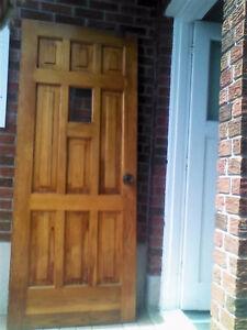 Solid Cedar Wood Front Door