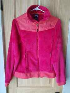 THE NORTH FACE PINK TWO TONED OSO STYLE FULL ZIP SOFT JACKET MED