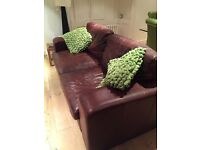 Two matching Brown Leather Sofa's