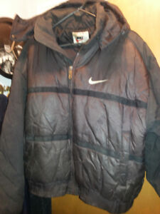 Nike Winter Coat Removable Hoodie Ski Jacket Black