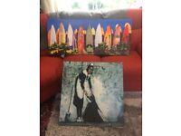 2 x Beautiful Canvas prints. 1 Banksy.