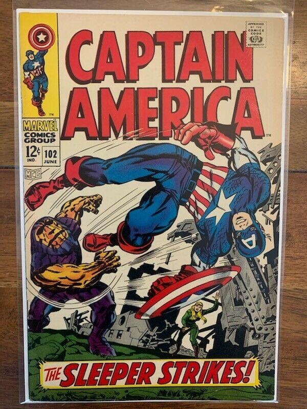 Captain America 102 High Grade Silver Age Comic Book