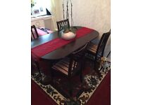 Mahogany table with 6chairs
