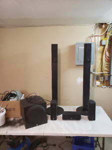 Yamaha  5.1 surround speakers with powered Subwoofer $100
