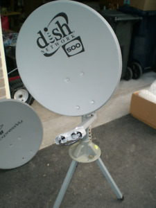 Satellite TV dishes mounts LNBF's and other components
