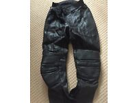 Women motorcycling leather trousers