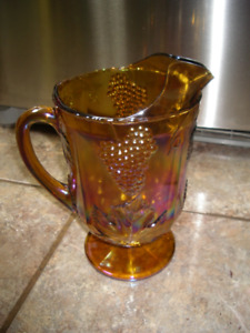 VINTAGE POT A JUS JAUNE OR ANTIQUE+1 VASE