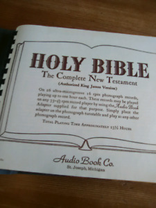 "The Holy Bible.  ""AUDIO"""