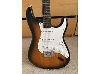 Broken Fender Squire Electric Guitar in Sunburst