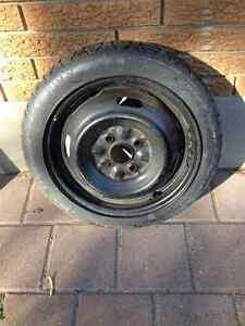 Spare tire on rim