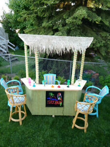 Beautiful Premium 7' Tiki bar.