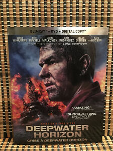 Deepwater Horizon (2-Disc Blu-ray/DVD, 2017)+Embossed Slipcover.