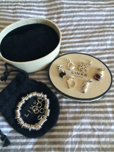 Authentic Links of London Sweetie Bracelet and Charms