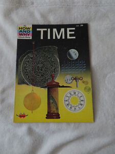 vintage 1963 HOW AND WHY WONDER BOOK OF TIME