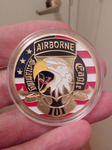 1a5ed54ef81 Large 40mm 101st Airborne Screaming Eagles Colored Coin.